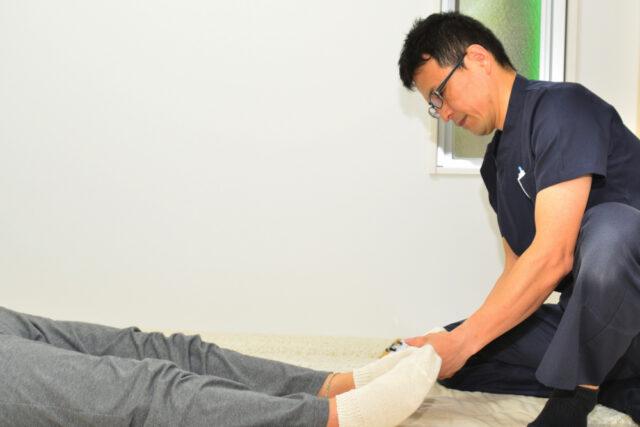 足底筋膜炎施術患者画像