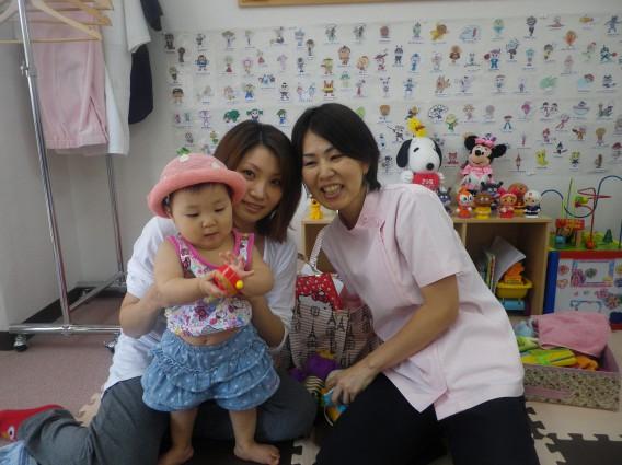 『出産後の腰痛(ぎっくり腰)』で来られているママさんに笑顔が!