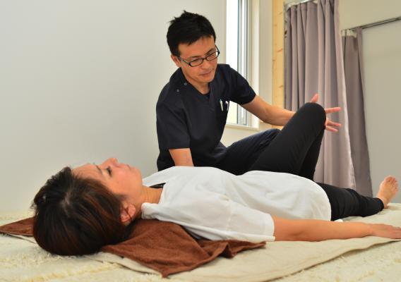 産後の腰痛施術